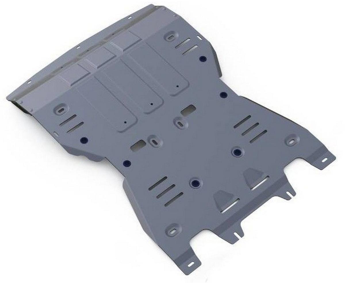 Защита картера и КПП Rival для Porsche Macan 2014-, алюминий 4 мм333.4605.1Защита картера и КПП Rival для Porsche Macan V - 3.0; 3.6; 3.0d 2014-н.в., алюминий 4 мм, крепеж в комплекте, 333.4605.1Алюминиевые защиты Rival надежно защищают днище вашего автомобиля от повреждений, например при наезде на бордюры, а также выполняют эстетическую функцию при установке на высокие автомобили.- Толщина алюминиевых защит в 2 раза толще стальных, а вес при этом меньше до 30%.- Отлично отводит тепло от двигателя своей поверхностью, что спасает двигатель от перегрева в летний период или при высоких нагрузках.- В отличие от стальных, алюминиевые защиты не поддаются коррозии, что гарантирует срок службы защит более 5 лет.- Покрываются порошковой краской, что надолго сохраняет первоначальный вид новой защиты и защищает от гальванической коррозии.- Глубокий штамп дополнительно усиливает конструкцию защиты.- Подштамповка в местах крепления защищает крепеж от срезания.- Технологические отверстия там, где они необходимы для смены масла и слива воды, оборудованные заглушками, надежно закрепленными на защите.- Помимо основной функции защиты от удара, конструкция так же существенно снижает попадание в моторный отсек влаги и грязи.В комплекте инструкция по установке.Уважаемые клиенты!Обращаем ваше внимание, на тот факт, что защита имеет форму, соответствующую модели данного автомобиля. Наличие глубокого штампа и лючков для смены фильтров/масла предусмотрено не на всех защитах. Фото служит для визуального восприятия товара.