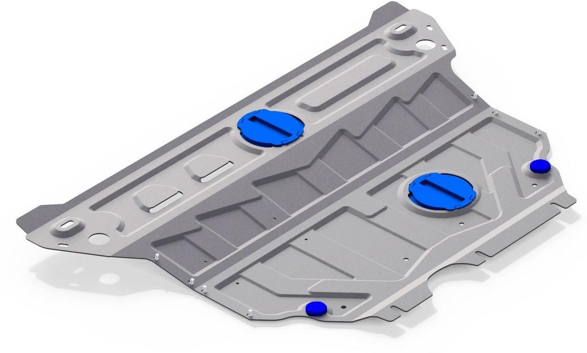 Защита картера и КПП увеличенная Rival для Skoda Octavia 2013-2017 2017-, алюминий 4 мм333.5114.1Защита картера и КПП (увеличенная) Rival для Skoda Octavia V - 1.4; 1.8 2017-н.в./Skoda Octavia V - 1.4; 1.8; 1.6; 2.0 (с Webasto) 2013-2017, алюминий 4 мм, крепеж в комплекте, 333.5114.1Алюминиевые защиты Rival надежно защищают днище вашего автомобиля от повреждений, например при наезде на бордюры, а также выполняют эстетическую функцию при установке на высокие автомобили.- Толщина алюминиевых защит в 2 раза толще стальных, а вес при этом меньше до 30%.- Отлично отводит тепло от двигателя своей поверхностью, что спасает двигатель от перегрева в летний период или при высоких нагрузках.- В отличие от стальных, алюминиевые защиты не поддаются коррозии, что гарантирует срок службы защит более 5 лет.- Покрываются порошковой краской, что надолго сохраняет первоначальный вид новой защиты и защищает от гальванической коррозии.- Глубокий штамп дополнительно усиливает конструкцию защиты.- Подштамповка в местах крепления защищает крепеж от срезания.- Технологические отверстия там, где они необходимы для смены масла и слива воды, оборудованные заглушками, надежно закрепленными на защите.- Помимо основной функции защиты от удара, конструкция так же существенно снижает попадание в моторный отсек влаги и грязи.В комплекте инструкция по установке.Уважаемые клиенты!Обращаем ваше внимание, на тот факт, что защита имеет форму, соответствующую модели данного автомобиля. Наличие глубокого штампа и лючков для смены фильтров/масла предусмотрено не на всех защитах. Фото служит для визуального восприятия товара.