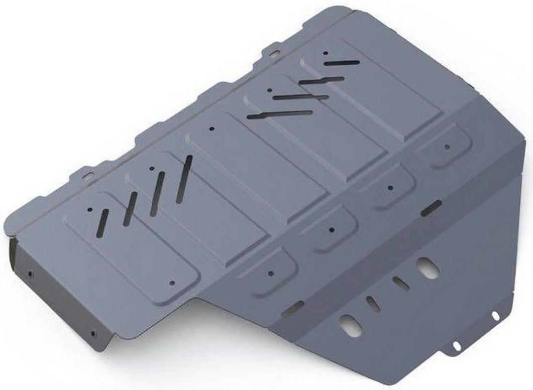 Защита картера увеличенная Rival для Subaru Impreza 2012- / Subaru XV 2012-, алюминий 4 мм333.5427.1Защита картера (увеличенная) Rival для Subaru Impreza V - 1.6; 2.0 2012-н.в./Subaru XV V - 1.6; 2.0 2012-н.в., алюминий 4 мм, крепеж в комплекте, 333.5427.1Алюминиевые защиты Rival надежно защищают днище вашего автомобиля от повреждений, например при наезде на бордюры, а также выполняют эстетическую функцию при установке на высокие автомобили.- Толщина алюминиевых защит в 2 раза толще стальных, а вес при этом меньше до 30%.- Отлично отводит тепло от двигателя своей поверхностью, что спасает двигатель от перегрева в летний период или при высоких нагрузках.- В отличие от стальных, алюминиевые защиты не поддаются коррозии, что гарантирует срок службы защит более 5 лет.- Покрываются порошковой краской, что надолго сохраняет первоначальный вид новой защиты и защищает от гальванической коррозии.- Глубокий штамп дополнительно усиливает конструкцию защиты.- Подштамповка в местах крепления защищает крепеж от срезания.- Технологические отверстия там, где они необходимы для смены масла и слива воды, оборудованные заглушками, надежно закрепленными на защите.- Помимо основной функции защиты от удара, конструкция так же существенно снижает попадание в моторный отсек влаги и грязи.В комплекте инструкция по установке.Уважаемые клиенты!Обращаем ваше внимание, на тот факт, что защита имеет форму, соответствующую модели данного автомобиля. Наличие глубокого штампа и лючков для смены фильтров/масла предусмотрено не на всех защитах. Фото служит для визуального восприятия товара.