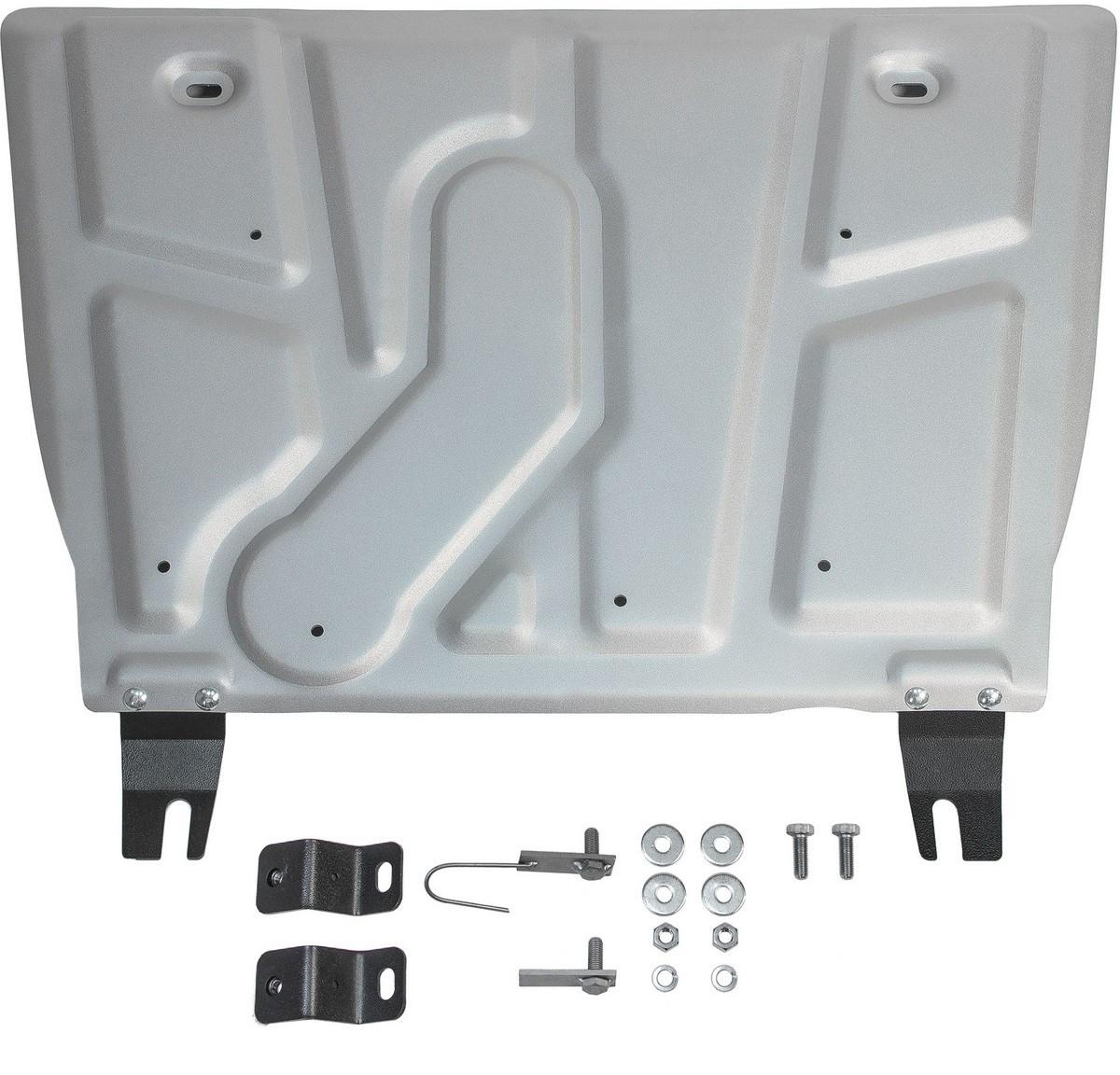Защита картера и КПП Rival для Toyota RAV4 2010-2013 2013-2015 2015-, алюминий 4 мм333.5709.1Защита картера и КПП Rival для Toyota RAV4 V - кроме 2.5 2015-н.в./Toyota RAV4 V - кроме 2.5 2010-2013/Toyota RAV4 V - кроме 2.5 2013-2015, алюминий 4 мм, крепеж в комплекте, 333.5709.1Алюминиевые защиты Rival надежно защищают днище вашего автомобиля от повреждений, например при наезде на бордюры, а также выполняют эстетическую функцию при установке на высокие автомобили.- Толщина алюминиевых защит в 2 раза толще стальных, а вес при этом меньше до 30%.- Отлично отводит тепло от двигателя своей поверхностью, что спасает двигатель от перегрева в летний период или при высоких нагрузках.- В отличие от стальных, алюминиевые защиты не поддаются коррозии, что гарантирует срок службы защит более 5 лет.- Покрываются порошковой краской, что надолго сохраняет первоначальный вид новой защиты и защищает от гальванической коррозии.- Глубокий штамп дополнительно усиливает конструкцию защиты.- Подштамповка в местах крепления защищает крепеж от срезания.- Технологические отверстия там, где они необходимы для смены масла и слива воды, оборудованные заглушками, надежно закрепленными на защите.- Помимо основной функции защиты от удара, конструкция так же существенно снижает попадание в моторный отсек влаги и грязи.В комплекте инструкция по установке.Уважаемые клиенты!Обращаем ваше внимание, на тот факт, что защита имеет форму, соответствующую модели данного автомобиля. Наличие глубокого штампа и лючков для смены фильтров/масла предусмотрено не на всех защитах. Фото служит для визуального восприятия товара.