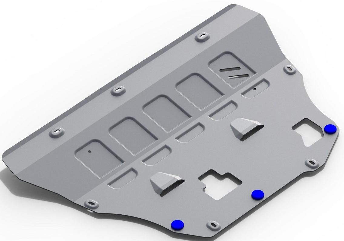 Защита картера и КПП Rival для Volvo XC90 2015-, алюминий 4 мм333.5912.1Защита картера и КПП Rival для Volvo XC90 V - D5; T6 2015-н.в., алюминий 4 мм, крепеж в комплекте, 333.5912.1Алюминиевые защиты Rival надежно защищают днище вашего автомобиля от повреждений, например при наезде на бордюры, а также выполняют эстетическую функцию при установке на высокие автомобили.- Толщина алюминиевых защит в 2 раза толще стальных, а вес при этом меньше до 30%.- Отлично отводит тепло от двигателя своей поверхностью, что спасает двигатель от перегрева в летний период или при высоких нагрузках.- В отличие от стальных, алюминиевые защиты не поддаются коррозии, что гарантирует срок службы защит более 5 лет.- Покрываются порошковой краской, что надолго сохраняет первоначальный вид новой защиты и защищает от гальванической коррозии.- Глубокий штамп дополнительно усиливает конструкцию защиты.- Подштамповка в местах крепления защищает крепеж от срезания.- Технологические отверстия там, где они необходимы для смены масла и слива воды, оборудованные заглушками, надежно закрепленными на защите.- Помимо основной функции защиты от удара, конструкция так же существенно снижает попадание в моторный отсек влаги и грязи.В комплекте инструкция по установке.Уважаемые клиенты!Обращаем ваше внимание, на тот факт, что защита имеет форму, соответствующую модели данного автомобиля. Наличие глубокого штампа и лючков для смены фильтров/масла предусмотрено не на всех защитах. Фото служит для визуального восприятия товара.