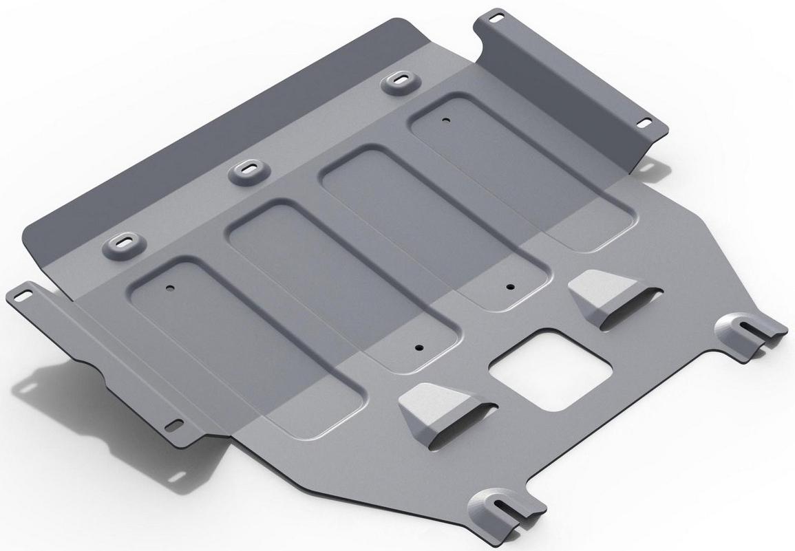 Защита картера и КПП Rival для Mini Clubman 2015- / Mini Clubman S 2015- / Mini Cooper 2014- / Mini Cooper S 2014-, алюминий 4 мм333.8205.1Защита картера и КПП Rival для Mini Clubman V - 1.5 2015-н.в./Mini Clubman S V - 2.0 2015-н.в./Mini Cooper V - 1.5 2014-н.в./Mini Cooper S V - 2.0 2014-н.в., алюминий 4 мм, крепеж в комплекте, 333.8205.1Алюминиевые защиты Rival надежно защищают днище вашего автомобиля от повреждений, например при наезде на бордюры, а также выполняют эстетическую функцию при установке на высокие автомобили.- Толщина алюминиевых защит в 2 раза толще стальных, а вес при этом меньше до 30%.- Отлично отводит тепло от двигателя своей поверхностью, что спасает двигатель от перегрева в летний период или при высоких нагрузках.- В отличие от стальных, алюминиевые защиты не поддаются коррозии, что гарантирует срок службы защит более 5 лет.- Покрываются порошковой краской, что надолго сохраняет первоначальный вид новой защиты и защищает от гальванической коррозии.- Глубокий штамп дополнительно усиливает конструкцию защиты.- Подштамповка в местах крепления защищает крепеж от срезания.- Технологические отверстия там, где они необходимы для смены масла и слива воды, оборудованные заглушками, надежно закрепленными на защите.- Помимо основной функции защиты от удара, конструкция так же существенно снижает попадание в моторный отсек влаги и грязи.В комплекте инструкция по установке.Уважаемые клиенты!Обращаем ваше внимание, на тот факт, что защита имеет форму, соответствующую модели данного автомобиля. Наличие глубокого штампа и лючков для смены фильтров/масла предусмотрено не на всех защитах. Фото служит для визуального восприятия товара.