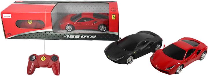 Rastar Радиоуправляемая модель Ferrari 488 GTB масштаб 1:24 цвет черный радиоуправляемая модель ferrari ff цвет красный масштаб 1 24