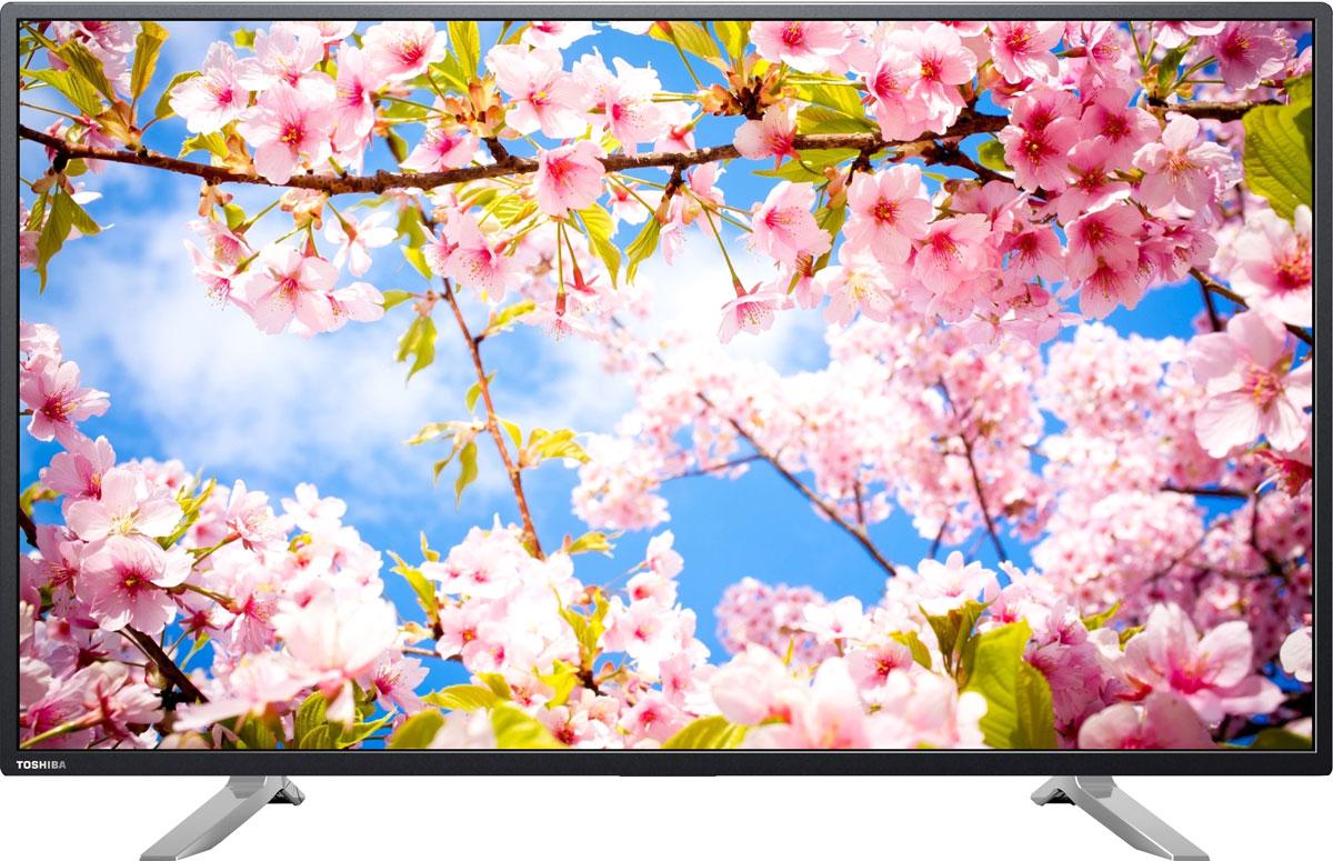 Toshiba 49U7750EV телевизор49U7750EVФормат Ultra HD, поддерживаемый телевизором Toshiba 49U7750EV, покажет отличную детализацию и четкость картинки. А технология LED-подсветки -невероятную контрастность.Smart TV на ОС Android позволяет использовать аппарат, как настоящий мультимедийный компьютер для посещения интернет, а установленные приложения -для работы и развлечений.Классическая форма дизайна телевизора Toshiba 49U7750EV в черном пластиковом корпусе с минимальной толщиной рамки достойно впишется в интерьер квартиры.Как выбрать телевизор – статья на OZON Гид.