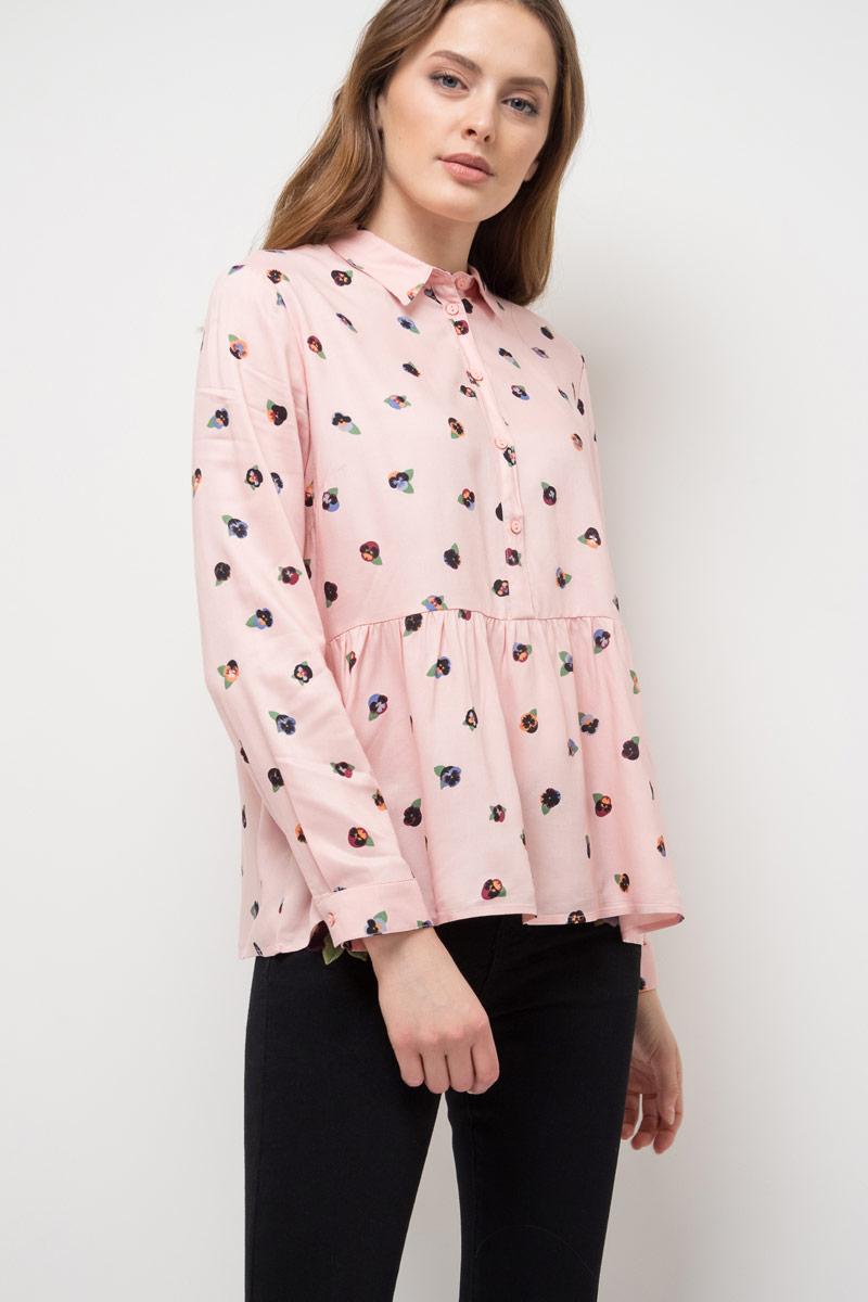 Блузка женская Sela, цвет: серебристо-розовый. B-312/785-8111. Размер 48 свитер sela sela se001emkja65