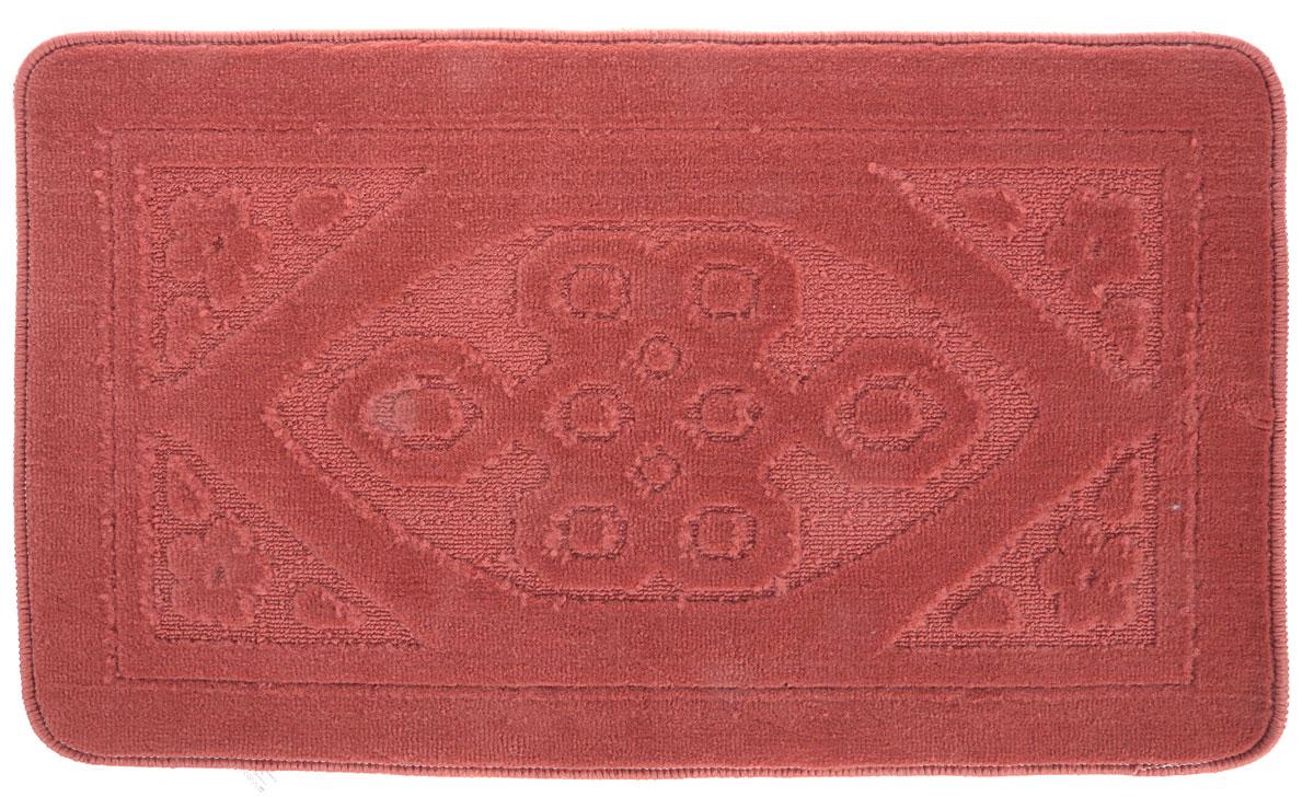 Коврик для ванной комнаты Dasch Узор, цвет: коричневый, 50 х 80 см5740Практичный ворсовый коврик для ванной комнаты. Интересный и яркий дизайн. Коврик обладает хорошими влаговпитывающими свойствами, рисунок не выцветает и не линяет. Основание коврика выполнено из латекса, который обеспечивает противоскользящий эффект, коврик не крошится. Допускается ручная или машинная стирка при температуре не более 40 C. После стирки коврик быстро сохнет. Плотность ворса 450 гр/м2