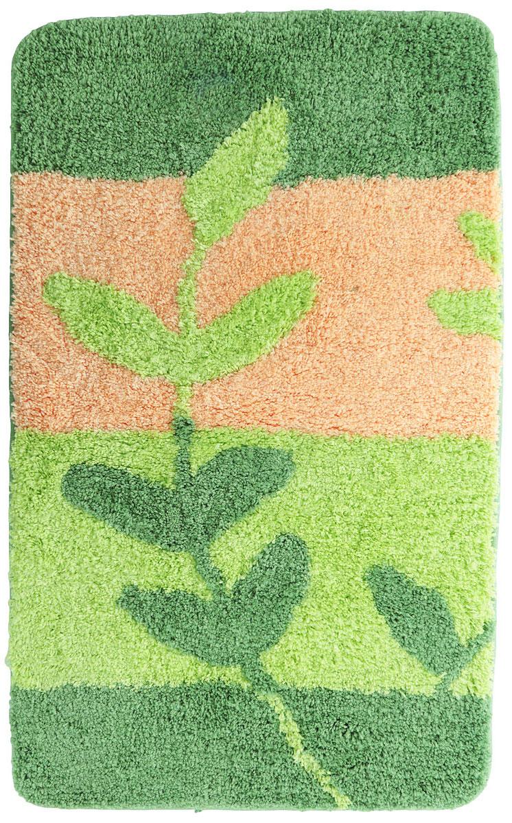 Коврик для ванной комнаты Dasch Силвана, цвет: зеленый, персиковый, 60 х 100 см5110_зеленый, оранжевыйНевероятно мягкий ворсовый коврик для ванной комнаты Dasch Силвана обеспечит комфорт и уют. Ворс выполнен из микрофибры по уникальной технологии, разработанной специально для этой коллекции. Тончайшая микрофибра закручена в нить ворса таким образом, что она наполнена воздухом и буквально дышит, что делает ворс невероятно мягким и нежным на ощупь. Благодаря такой технологии изготовления коврик обладает высокими влаговпитывающими свойствами. Яркие расцветки достигаются окрасом нитей высококачественными красителями, которые дают насыщенный цвет, не выцветают со временем и не линяют при стирке и использовании. Основание коврика выполнено из высококачественного латекса, который обеспечивает противоскользящий эффект, не крошится даже при длительном использовании. Коврик подходит для пола с подогревом. Допускается деликатная ручная или машинная стирка при температуре 30°C. После стирки коврик быстро сохнет. Плотность ворса: 700 гр/м2.