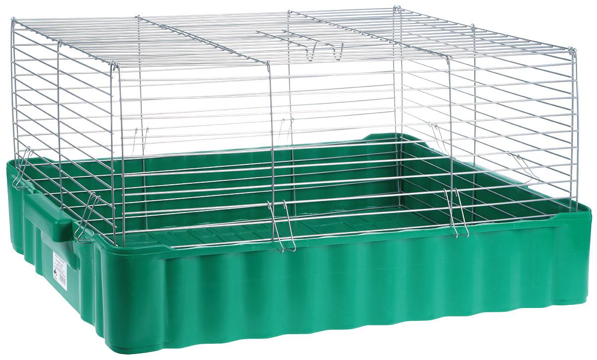 Клетка для кроликов Велес Lusy Rabbit Family, 79 х 47 х 36 см640Клетка для кроликов Велес, выполненная из металла и пластика, предназначена для содержания вашего любимца. Клетка имеет прямоугольную форму и очень просторна. Размеры позволят оснастить клетку всеми необходимыми предметами. Она очень легко собирается и разбирается. Такая клетка станет для вашего питомца уютным домиком и надежным убежищем.