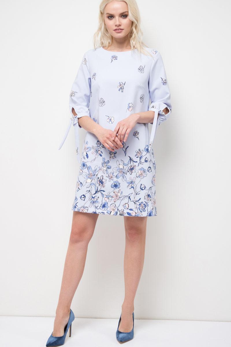 Платье Sela, цвет: пыльно-лавандовый. D-117/862-8110P. Размер 50D-117/862-8110PПлатье Sela выполнено из качественного материала. Модель с круглым вырезом горловины и длинными рукавами.
