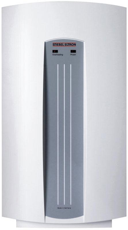 Stiebel Eltron DHC 8 водонагреватель проточныйDHC 8Напорный проточный водонагреватель Stiebel Eltron DHC 8 представляет собой водонагреватель закрытого типа с гидравлическим управлением, предназначенный для подключения в действующую систему водоснабжения в качестве альтернативного источника подачи горячей воды в случаях ее временногоотключения.Все внутренние части водонагревателя выполнены из высококачественной меди. Водонагреватель DHC 8 имеетдвойную защиту от перегрева, при которой при нагреве воды до 60 градусов, происходит автоматическое отключение нагревательного элемента и срабатывания индикатора перегрева, расположенного на лицевой панели прибора. Регулировка температуры воды на выходе осуществляется с помощью обычного смесителя.С помощью напорного проточного нагревателя DHC 8 подключаемого отдельным кабелем к распределительному электрическому щиту сети 220 В, возможно организовать подачу горячей воды в количестведостаточном для принятия душа или мытья посуды. Степень пыле-влагозащищенности водонагревателя DHC 8 соответствует классу IP24. Что исключает возможность контакта рук (пальцев) потребителя с опасными частями прибора и защиту от брызг воды в любом направлении. Производительность напорного проточного водонагревателя DHC 8 , мощностью 8 кВт составляет 4 литра в минуту, достаточную для обеспечения бытовых потребностей в горячей воде или принятие душа в комфортных условиях. Как выбрать водонагреватель. Статья OZON Гид