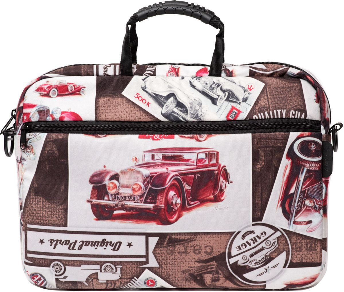 Vivacase Cars, Brown сумка для ноутбука 15,6VCN-CCR15-brСумка для ноутбуков диагональю 15.6 дюймов стильная и эргономичная. Стильный дизайн неизбежно привлечет внимание и поможет ее владельцу выделиться из толпы.Сумка для ноутбука сшита из бархатистой мебельной ткани устойчивой к загрязнениям и истиранию. Не стоить бояться, что изделие быстро потеряет товарный вид. При изготовлении аксессуаров Vivacase используются только качественные материалы от проверенных поставщиков. Сумке не страшны ни грязь, ни осадки благодаря специальной водо - и грязеотталкивающей пропитке. Ее достаточно протереть влажной тряпочкой, чтобы избавиться от пятен.Основа сумки - специальный пористый противоударный материал двойного сложения, который отлично защищает ноутбук от тряски в дороге и механических повреждений. При этом сумка очень легкая и компактная. С ней удобно путешествовать. К сумке прилагается широкий наплечный ремень. Во вместительном внешнем кармане на молнии могут поместить документы формата А4 и другие аксессуары.