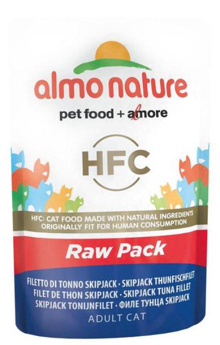 "Консервы для кошек Almo Nature ""Classic Raw Pack"", филе полосатого тунца, 55 г"