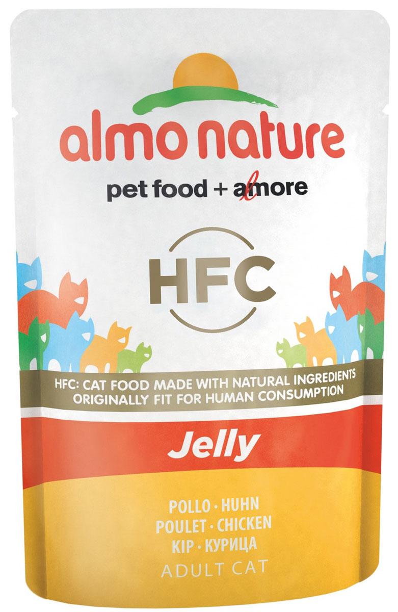 """Консервы Almo Nature """"Jelly"""" для кошек, филе лосося в желе, 55 г"""