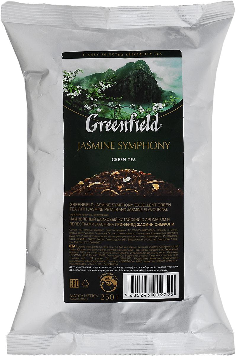 Greenfield Jasmine Symphony зеленый листовой чай, 250 г greenfield blueberry forest черный листовой чай 250 г