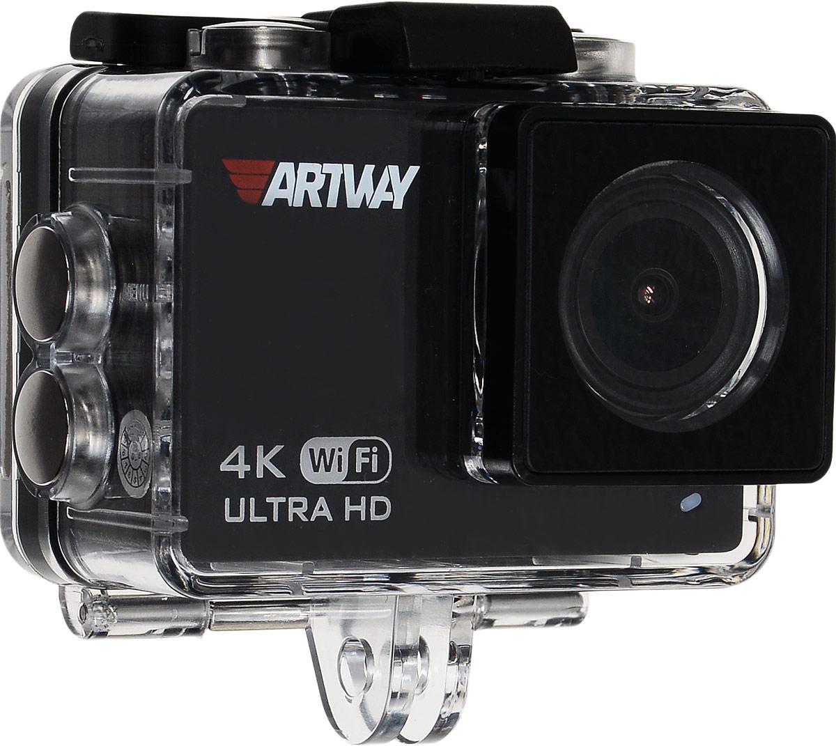 Artway AC-905, Black видеорегистратор + экшн-камераAC-905Экшн-камеру Artway AC-905 можно использовать в качестве автомобильного регистратора. Для этого в устройстве предусмотрены все необходимые функции. Режим циклической записи, который позволяет экономить место на карте памяти. Встроенный G-сенсор защитит от удаления или перезаписи, видеофайлы во время аварийных ситуаций. Функция НDR позволяет снимать ролики в высокого качества в условиях плохой освещенности или в ночное время при ярком свете фонарей и фар встречных автомобилей.В комплекте экшн-камеры входит специальное крепление с присоской на стекло автомобиля, а компактный размер камеры делает ее незаметной для окружающих. При использовании Artway AC 905 в качестве видеорегистратора, вы сможете рассмотреть на видео не только номерные знаки, но и мельчайшие действия и обстоятельства происшествия.Видео такого высокого качество позволит вам доказать свою невиновность в случае судебных разбирательств. Благодаря встроенному Wi-Fi владелец устройства может сохранить на смартфон необходимые видеофайлы прямо на месте ДТП. Передав карту памяти сотруднику ДПС, можно не опасаться, что она будет утеряна вместе с записью дорожного события.Высочайшее качество съемки 4KUltra HD обеспечивается благодаря мощному графическому процессору Allwinner V3 и матрице Sony с разрешением 16 мегапикселей. 4K это формат ультравысокой четкости, он в четыре раза лучше популярного Full HD, позволяет добиться максимально качественной картинки и в дневное и ночное время.Бесплатное приложение для управления видеорегистратором через смартфон на базе iOS и Android находятся в свободном доступе в AppStore и GogglePlay. Вы всегда можете установить их на свой смартфон для управления устройством, просмотра сохраненных видео или сохранения файлов на мобильном устройстве.Функция стабилизации изображения и компенсирования вибрации позволяет компенсировать тряску и вибрации при съемке во время движения и стабилизирует изображение во время съемки с рук. Так
