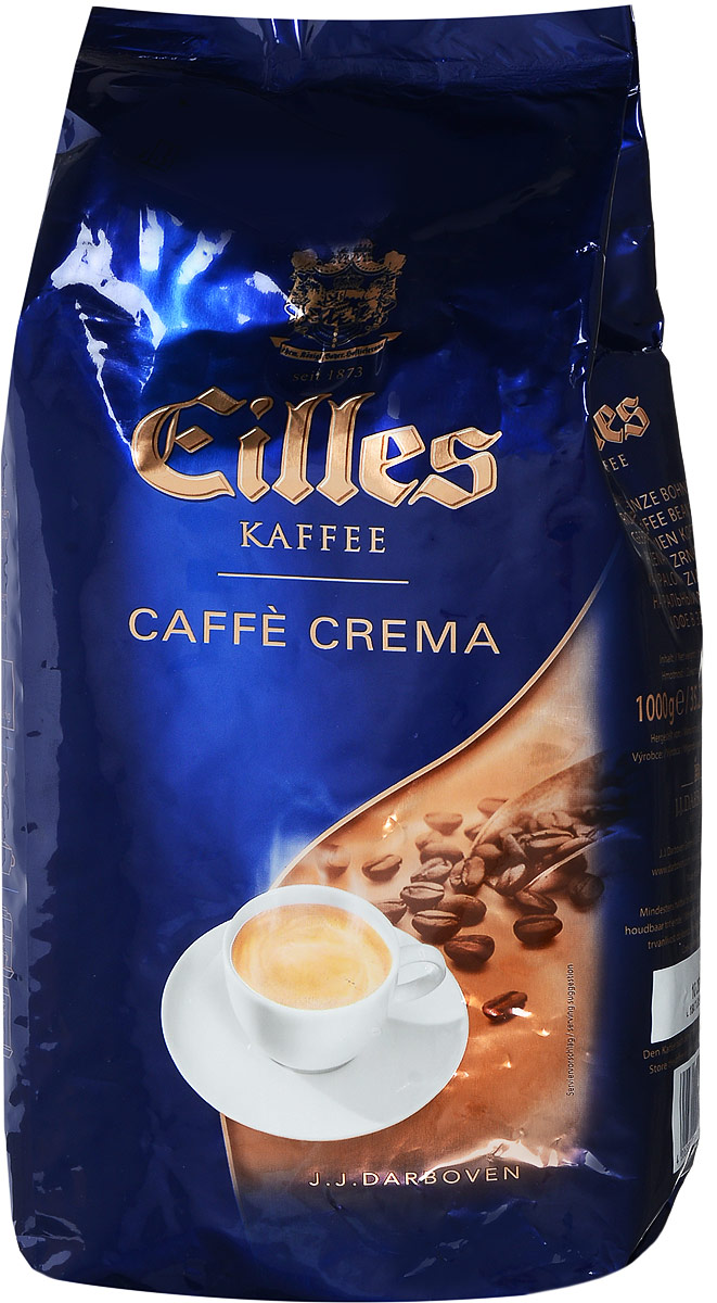 Eilles Gourmet Cafe Crema кофе в зернах, 1000 г20150Eilles Gourmet Cafe Crema - потрясающий немецкий кофе в зернах, в состав которого входят только лучшие зерна Арабики. Зерна для Eilles Gourmet обжариваются медленно при низкой температуре, что позволяет тщательно прожарить каждое кофейное зернышко. Эта деликатная обжарка обеспечивает наличие интенсивных ноток вишни и темного хлеба в послевкусии. Напиток имеет соблазнительный вкус, богатый пряностями аромат, легкую горчинку и оттенки фундука в длительном послевкусии. Это изысканный купаж для настоящих кофейных гурманов. Уважаемые клиенты! Обращаем ваше внимание на то, что упаковка может иметь несколько видов дизайна. Поставка осуществляется в зависимости от наличия на складе. Кофе: мифы и факты. Статья OZON Гид