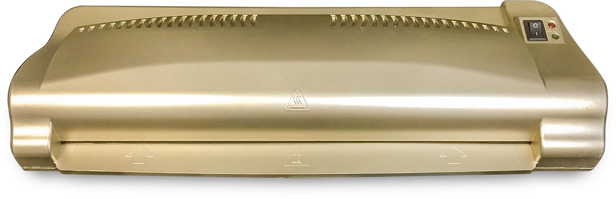 Гелеос ЛМ A3-2 ламинатор, цвет золотойЛМA3-2Пакетный ламинатор Гелеос ЛМ А3-2 - превосходный аппарат для работы с документами формата не более А3. Рекомендован к использованию в офисе по необходимости. Яркий цвет корпуса выделяет аппарат из серой массы других офисных приборов. Легкость и простота в работе позволяет ламинировать документы любому сотруднику. Мощный Гелеос ЛМ А3-2 прогревается до рабочих температур за 2-3 минуты и обрабатывает бумагу со скоростью 300 мм/мин.