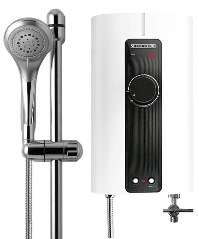 Stiebel Eltron IS 35 E-2 водонагреватель проточныйIS 35 E-2Проточный водонагреватель открытого типа Stiebel Eltron IS 35 E-2 (безнапорный) мощностью 3.5 кВт (~220В). Для эксплуатации одной точки водоразбора. В комплекте – внешний вентиль и принадлежности для душа: водосберегающая лейка, душевой шланг, держатель для мыла, штанга. Желаемая температура устанавливается при помощи протока воды и регулятора, расположенного на лицевой панели прибора. Контрольная лампочка Power сигнализирует о работе ТЭНа. Водонагреватель IS 35 E-2 не может находиться под давлением водопроводной сети, в связи с чем, используется только со штатной запорной арматурой (внешним вентилем, входящим в комплект, устанавливается на входе холодной воды).Прибор оснащен устройством защиты от перегрева и встроенным устройством защитного отключения (УЗО), исключающего поражение электрическим током. Компактные размеры позволяют монтировать проточный водонагреватель в ограниченном пространстве. Класс защиты корпуса IP 25 (защищен от струй воды). Как выбрать водонагреватель. Статья OZON Гид