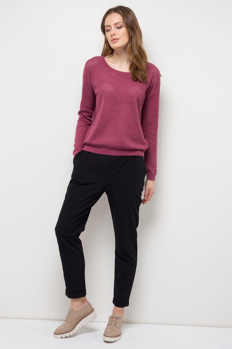Джемпер женский Sela, цвет: фиолетовый меланж. JR-314/998-8111. Размер XL (50)