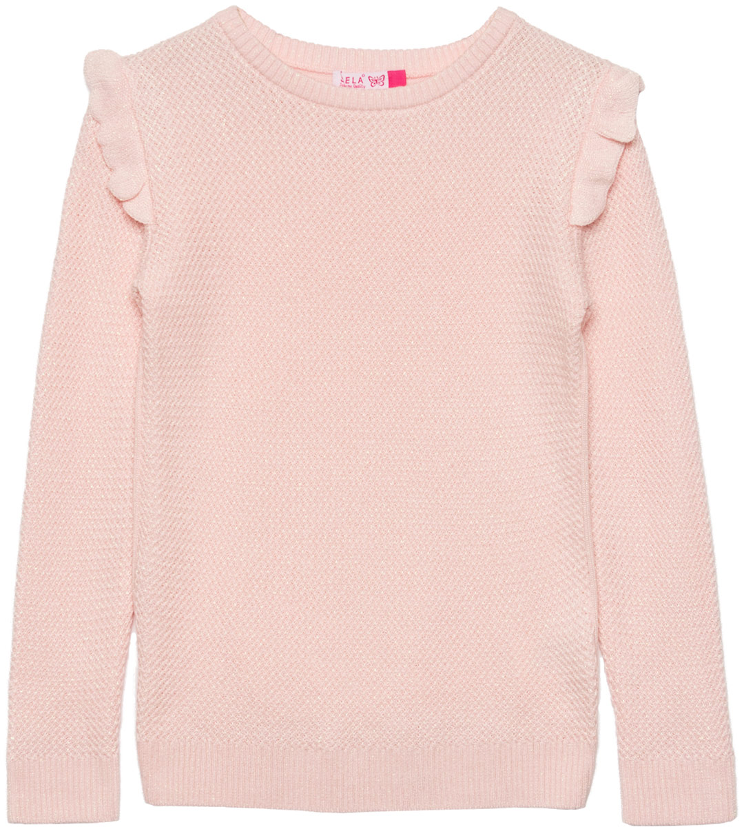Джемпер для девочки Sela, цвет: розовый. JR-614/971-8110. Размер 152 цена