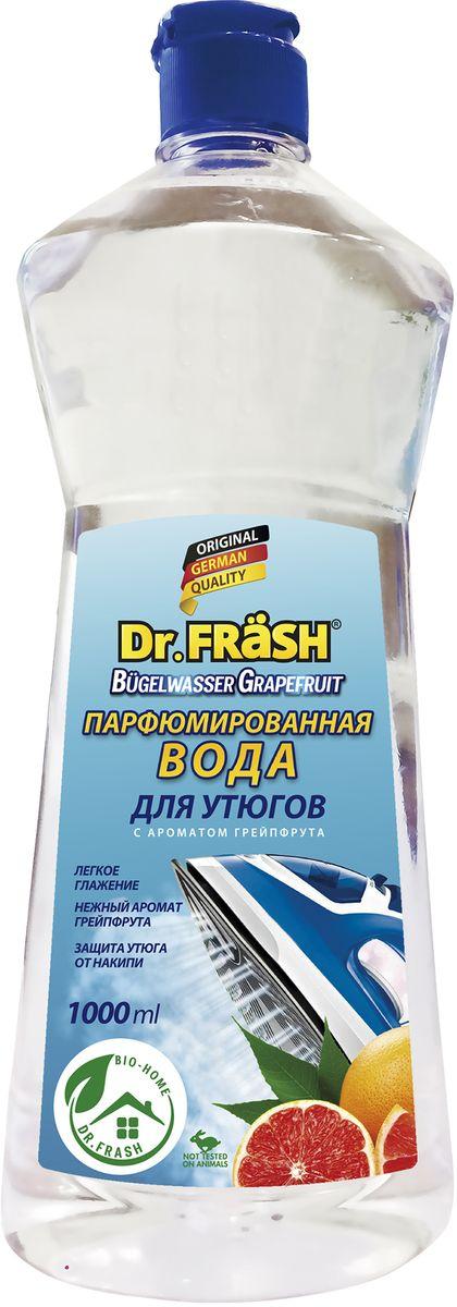 Вода для утюгов Dr.Frash, парфюмированная, с ароматом грепфрута, 1 л6262Парфюмированная вода для утюгов Dr.Frash облегчает глажение и придает белью нежный свежий аромат грейпфрута, предохраняет внутренние детали утюга от образования известкового налета и накипи. Избавляет белье от появления пятен при отпаривании. В отличие от обычной воды она содержит специальные компонеты, проникающие внутрь волокон ткани и обеспечивает качественное разглаживание помятого и пересушенного белья. Регулярное использование воды Dr.Frash продлевает срок службы вашего утюга.