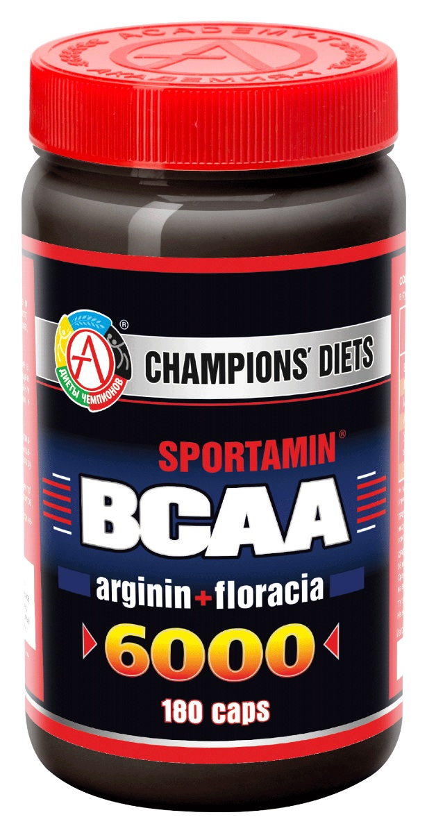BCAA Академия-Т BCAA 6000 Спортамин, 180 капсул prolab bcaa prolab plus 180капс