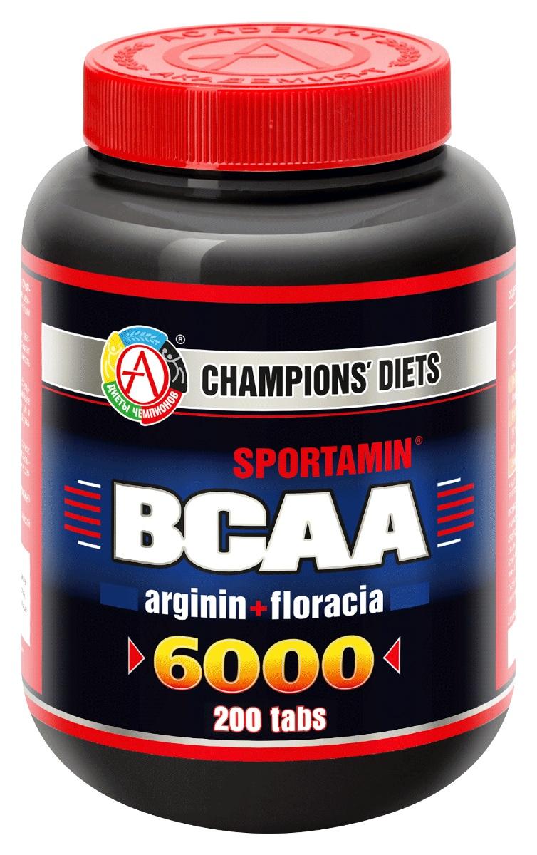 """Аминокислоты Академия-Т """"BCAA 6000 Спортамин"""", 200 капсул, ACADEMY-T"""