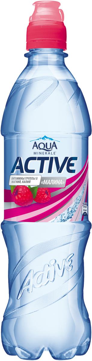 Aqua Minerale Active Малина напиток негазированный, 0,6 л aqua minerale с соком лимон напиток негазированный 0 6 л