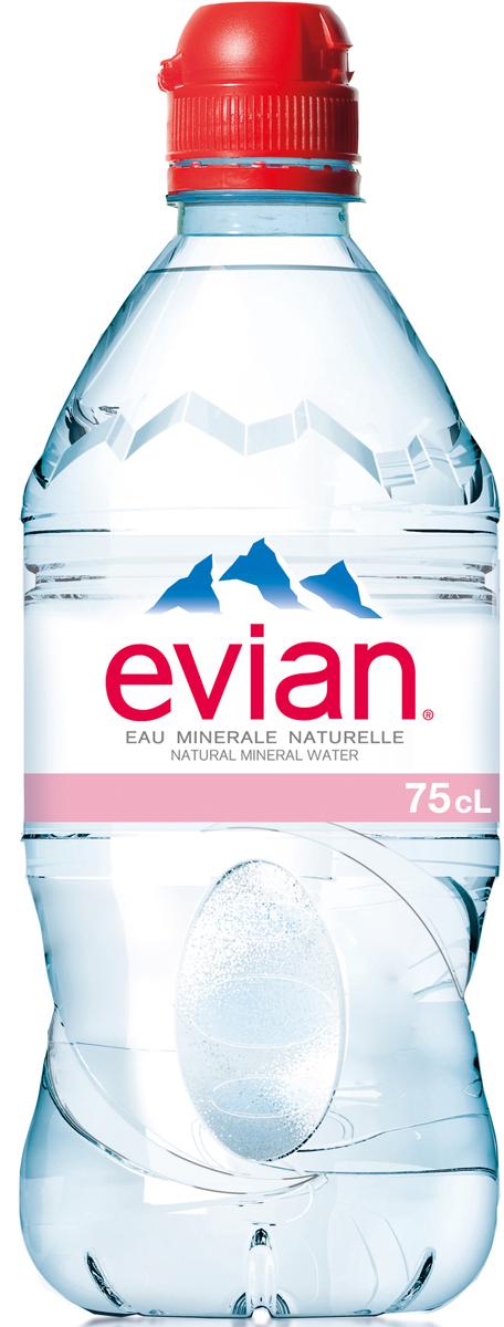 Evian вода минеральная природная столовая негазированная, 0,75 л evian вода минеральная evian без газа 1 5 л