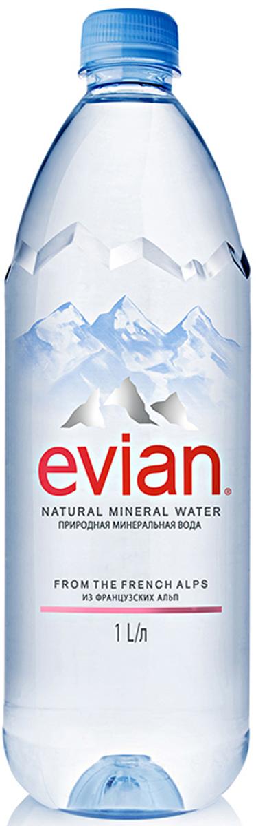 Evian вода минеральная природная столовая негазированная, 1 л