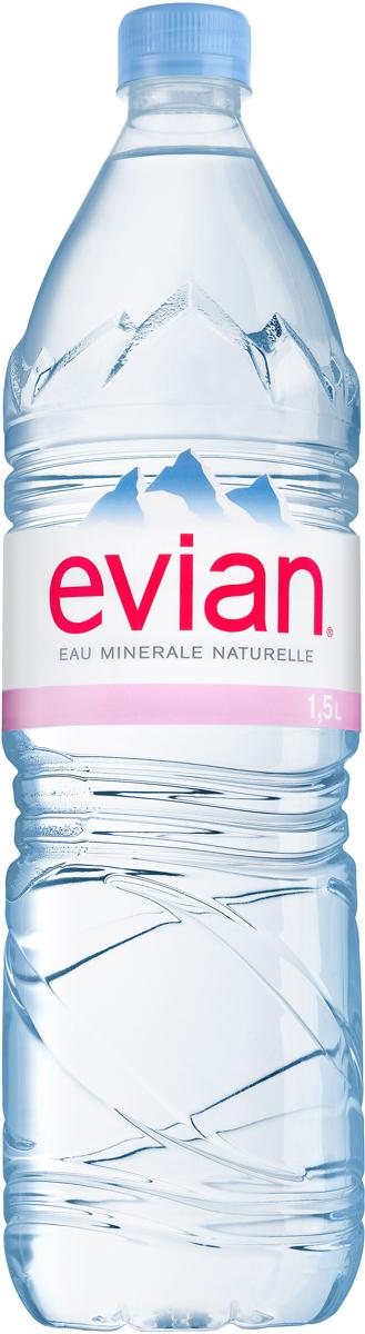 Evian вода минеральная природная столовая негазированная, 1,5 л acqua natia вода минеральная 0 5 л