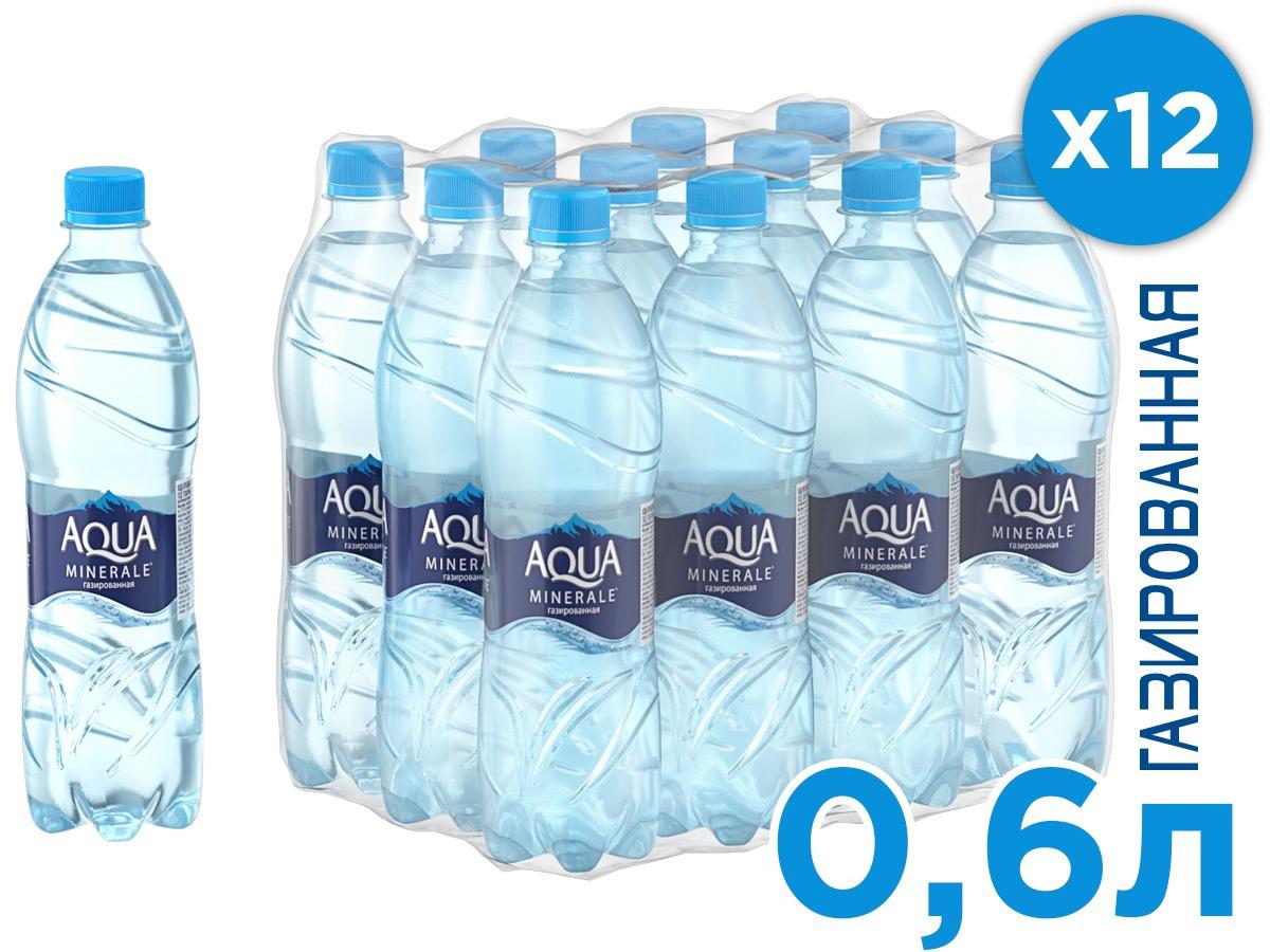 Aqua Minerale вода газированная питьевая, 12 ш т по 0,6 л aqua minerale вода питьевая негазированная 6 штук по 2 л