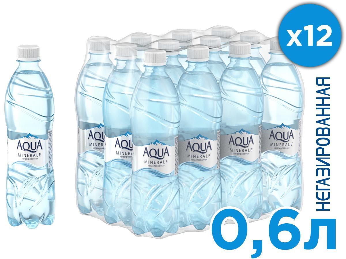 Aqua Minerale вода питьевая негазированная, 12 штук по 0,6 л aqua minerale вода питьевая негазированная 1 5 л