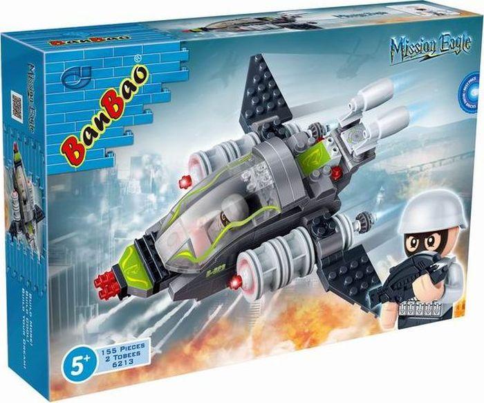 BanBao Пластиковый конструктор Истребитель 155 деталей конструктор crystaland shg006 истребитель 4 в 1 67 дет