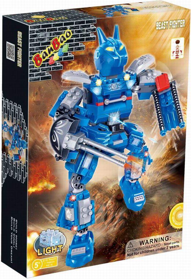 BanBao Пластиковый конструктор Робот электромеханический 213 деталей