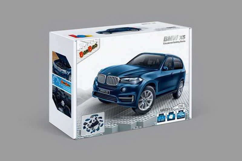 BanBao Пластиковый конструктор Машина BMW X5 цвет синий машина bmw x5