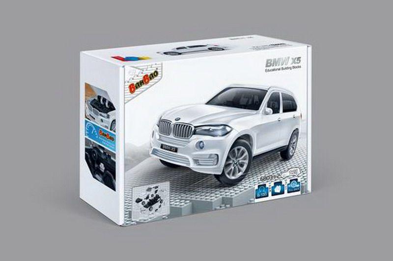 BanBao Пластиковый конструктор Машина BMW X5 цвет белый машина bmw x5