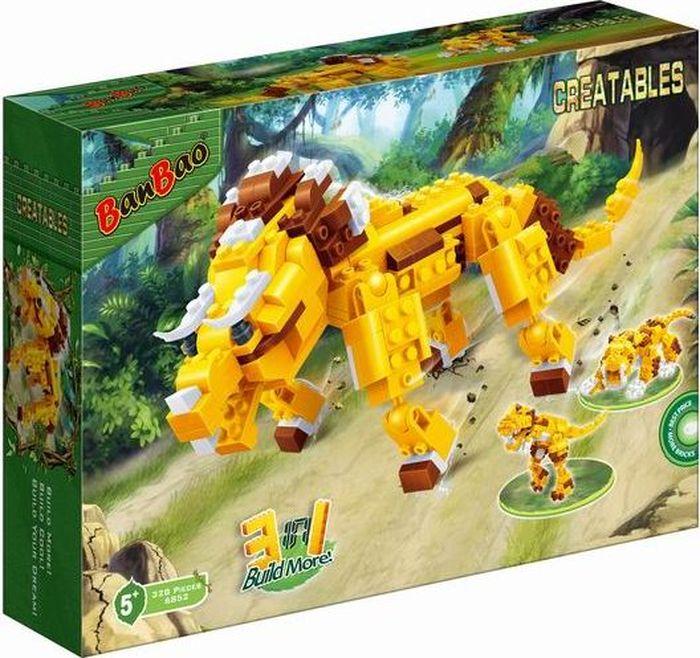 BanBao Пластиковый конструктор Динозавр 3 в 1 328 деталей banbao пластиковый конструктор истребитель 155 деталей