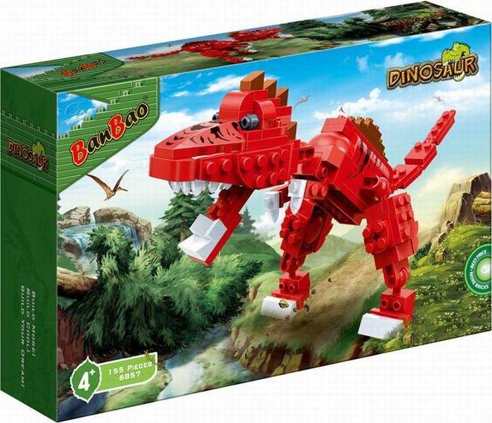 Фото - BanBao Пластиковый конструктор Динозавр 155 деталей конструктор автомобильный парк 7 в 1