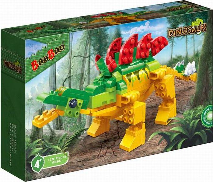 BanBao Пластиковый конструктор Динозавр 128 деталей banbao пластиковый конструктор сафари 236 деталей