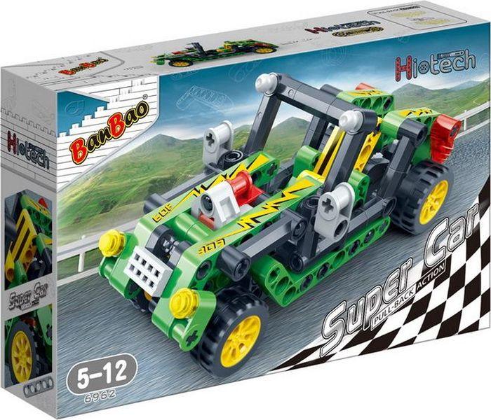 BanBao Пластиковый конструктор Гоночная машина цвет зеленый 128 деталей toytoys конструктор гоночная машина toto 019