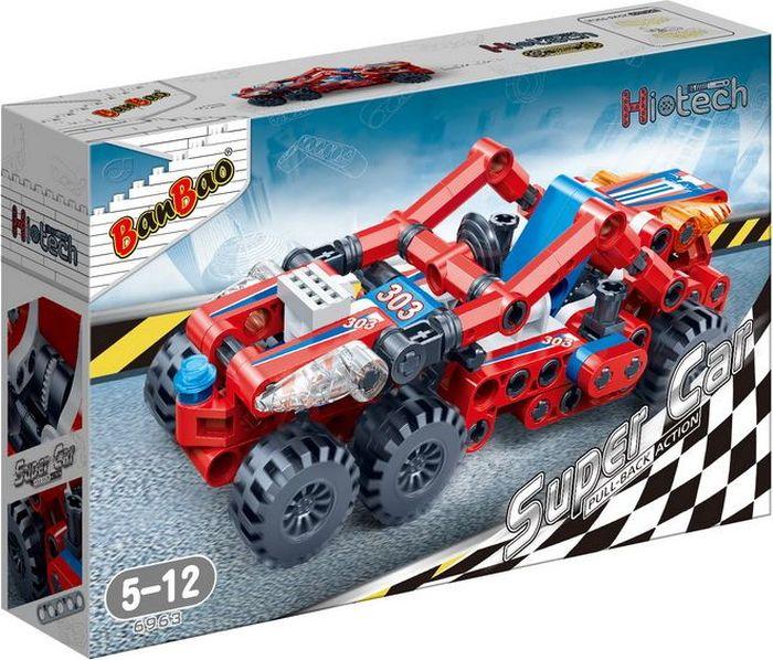 BanBao Пластиковый конструктор Гоночная машина цвет красный 128 деталей