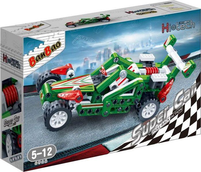 BanBao Пластиковый конструктор Гоночная машина 138 деталей 6965 banbao пластиковый конструктор истребитель 155 деталей