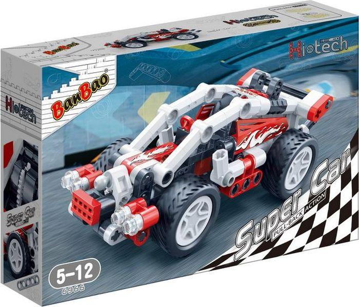 Фото - BanBao Пластиковый конструктор Гоночная машина 138 деталей 6966 конструктор автомобильный парк 7 в 1