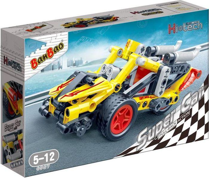 BanBao Пластиковый конструктор Гоночная машина 108 деталей