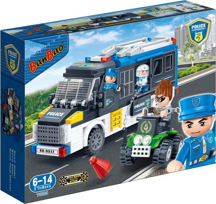 BanBao Пластиковый конструктор Полицейская машина 325 деталей игрушка siku полицейская патрульная машина 8 1 3 6 2 9см 1352