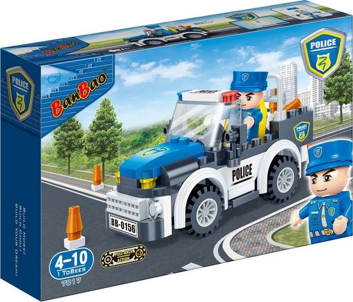 где купить BanBao Пластиковый конструктор Полицейская машина 100 деталей по лучшей цене