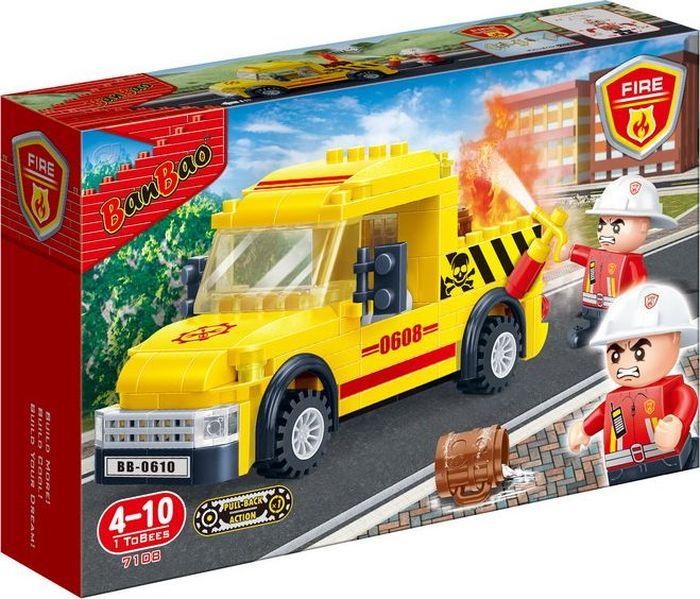 BanBao Пластиковый конструктор Пожарная машина 105 деталей конструктор краски дня утро 105 деталей