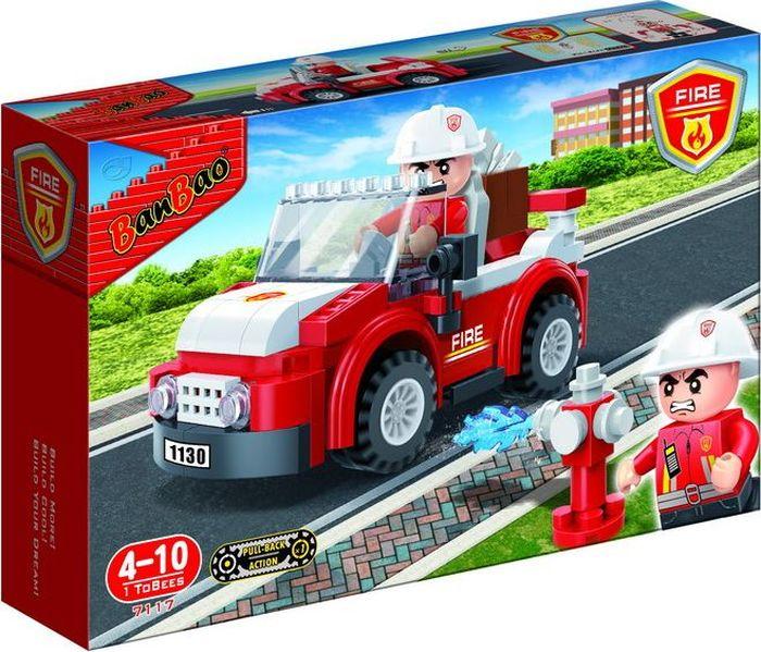 где купить BanBao Пластиковый конструктор Пожарный внедорожник 110 деталей по лучшей цене