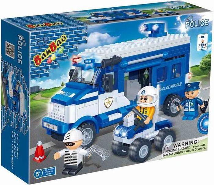 BanBao Пластиковый конструктор Полицейская команда 250 деталей